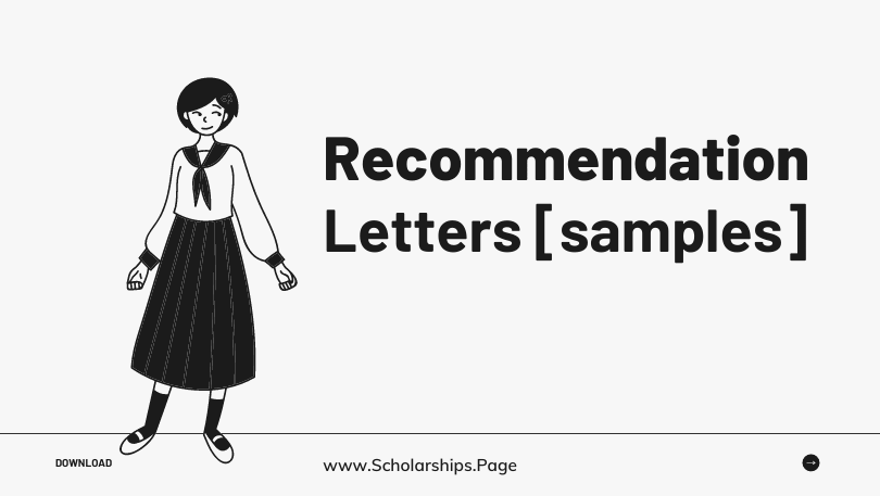 Recommendation Letter from Your Professor for Scholarships & Admissions Application