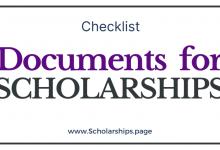 Documents Set for Scholarship Application Go Through the List