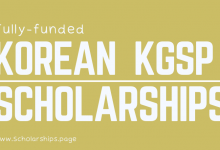 Korean Government Scholarships Program [KGSP] Applications Round Started